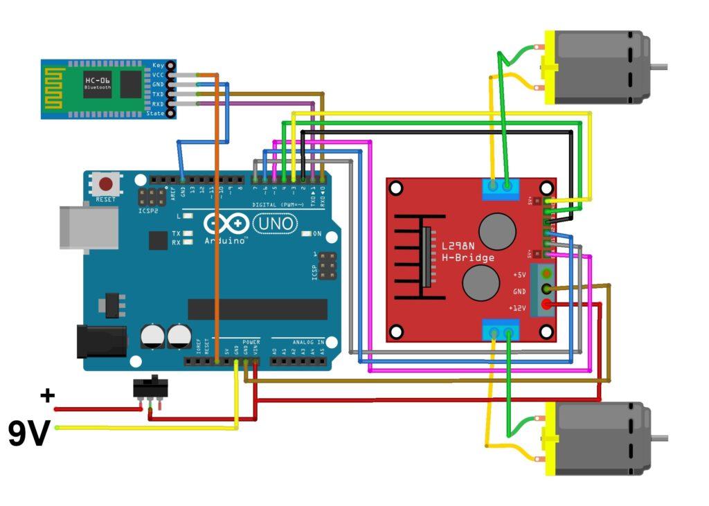 Схема Bluetooth машинки