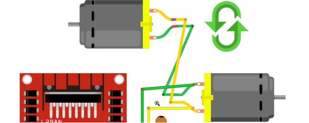 Изменение полярности мотора